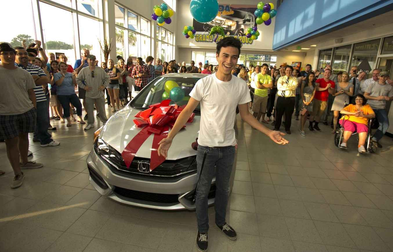 2014 Perfect Attendance Winner Ira Gilmore Takes Home A Honda Civic LX