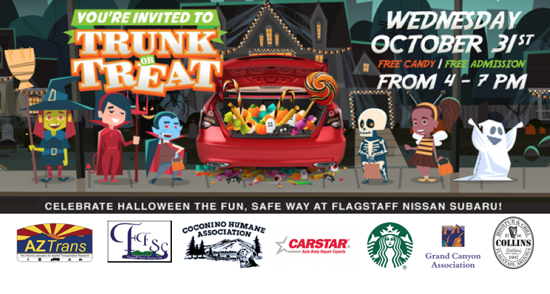 Flagstaff Nissan Subaru To Celebrate Halloween With 2nd Annual Trunk-Or-Treat Event